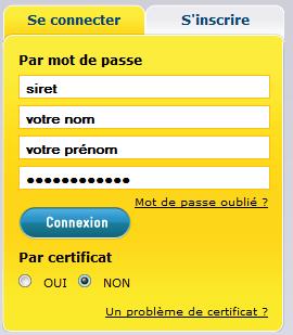 Se connecter sur Net-entreprises.fr