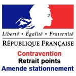 Contravention, Retrait points, Amende stationnement