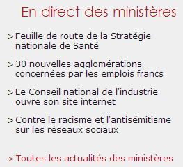 Accédez aux actualités des Ministères sur le Portail du Gouvernement