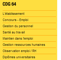 Accédez aux Concours et Emploi du CDG 64