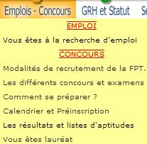 """Rubrique """"Emplois et Concours"""" du CDG 47"""
