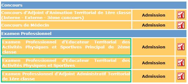 Résultats des concours et examens du CDG 48