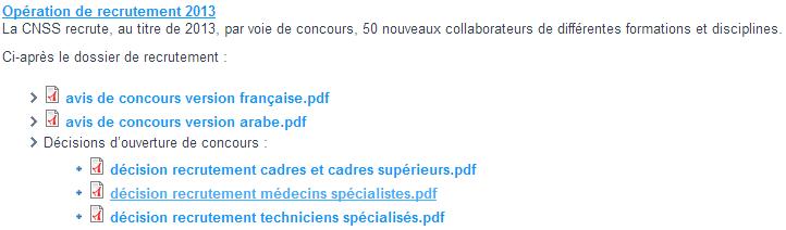 Accédez aux avis de recrutement du CNSS du Maroc